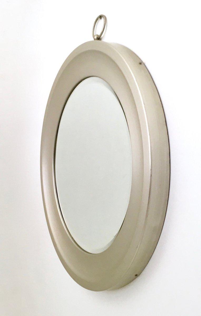 Specchio Da Parete Vintage In Acciaio Anni 39 70 In Vendita