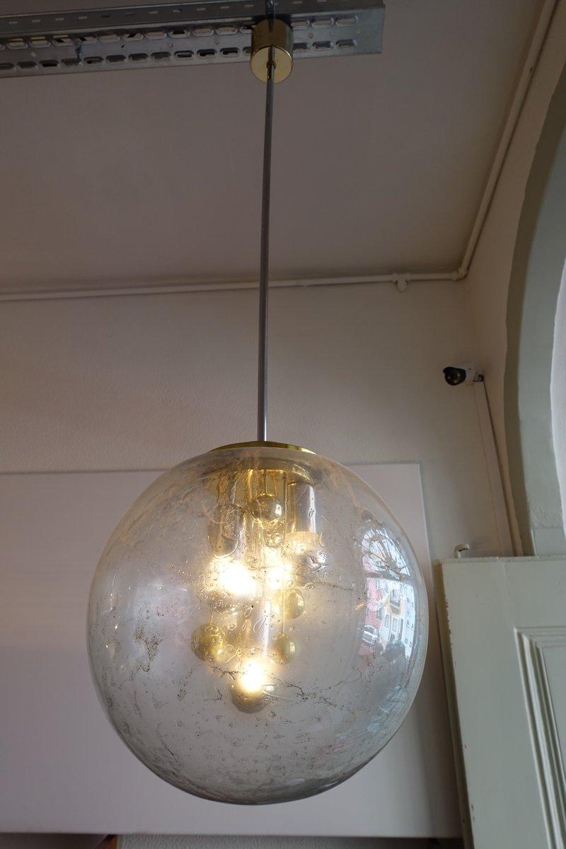 verchromte sputnik h ngelampe aus glas von doria leuchten 1970er bei pamono kaufen. Black Bedroom Furniture Sets. Home Design Ideas