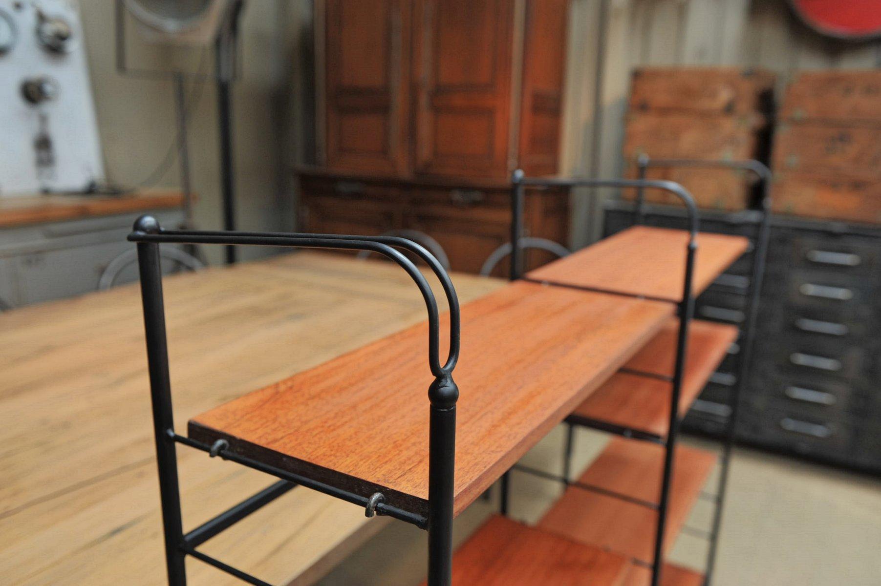 Scandinavian Wood Metal Shelf 1970s For Sale At Pamono
