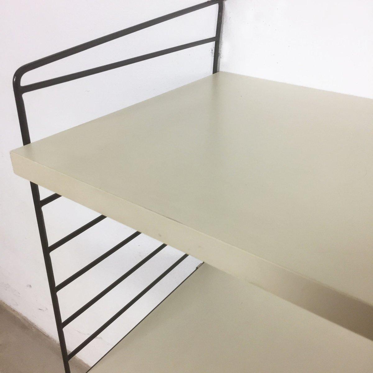 wei es schwedisches wand regalsystem von nisse strinning f r string 1960er bei pamono kaufen. Black Bedroom Furniture Sets. Home Design Ideas