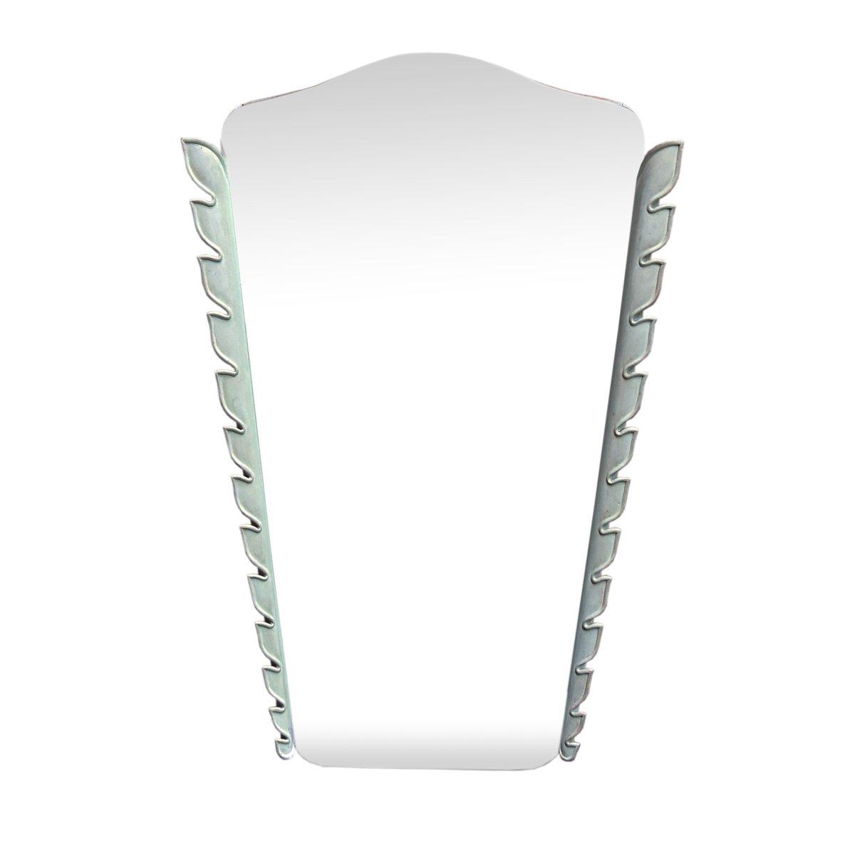 italienischer spiegel mit rahmen aus geschnitztem holz. Black Bedroom Furniture Sets. Home Design Ideas