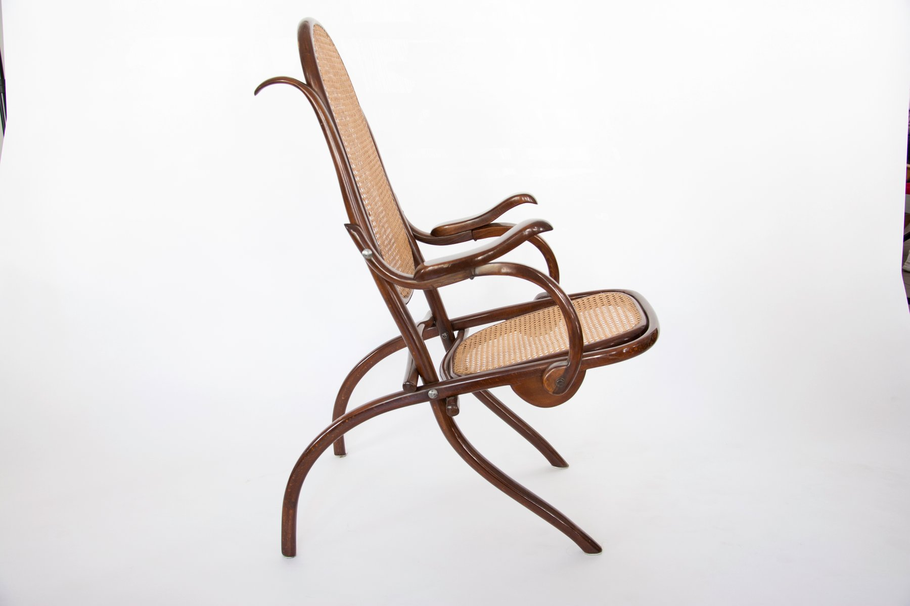 Folding Lounge Chair from Thonet 1910s for sale at Pamono