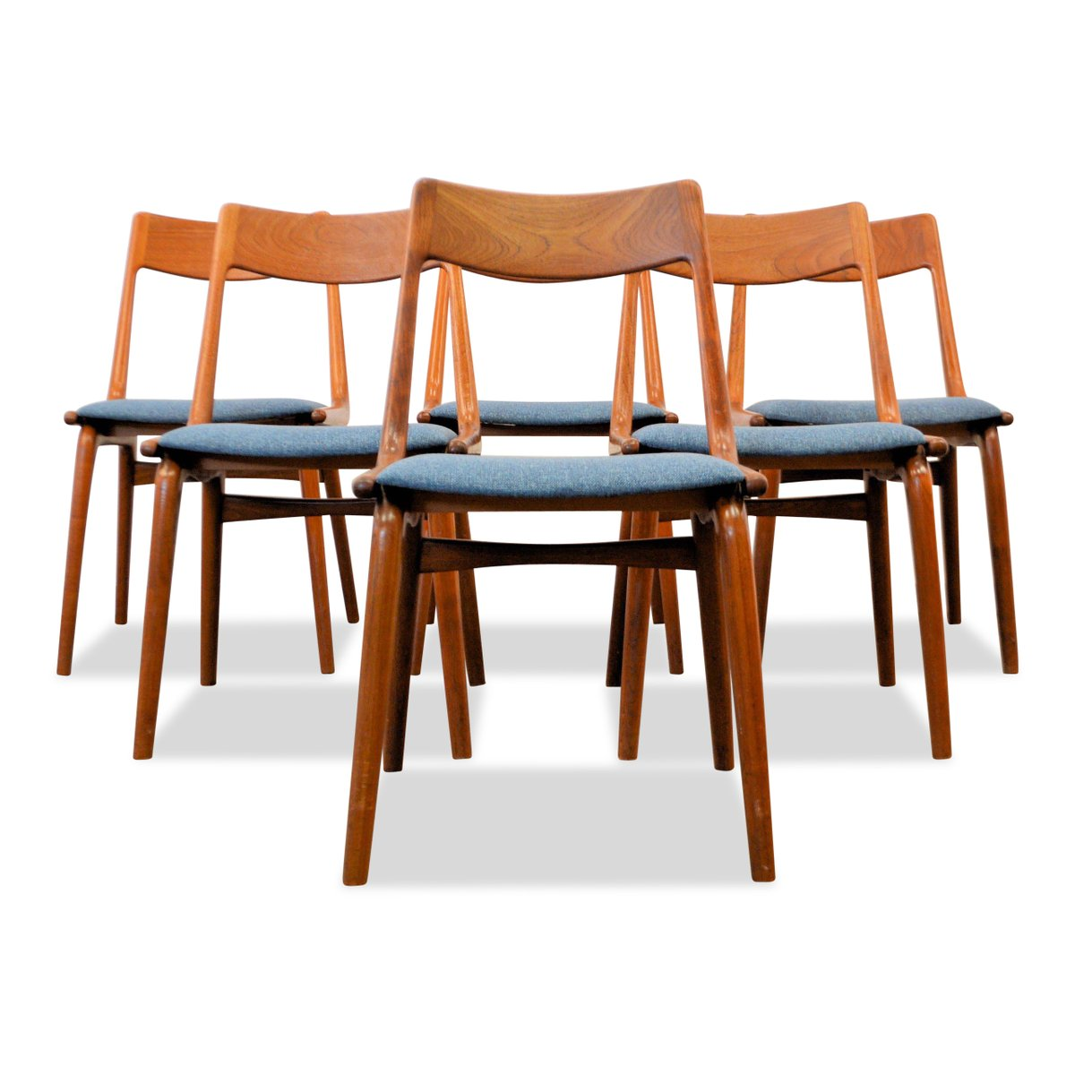 Delightful Mid Century Boomerang Dining Chairs By Alfred Christensen For Slagelse  Møbelværk, Set Of 6