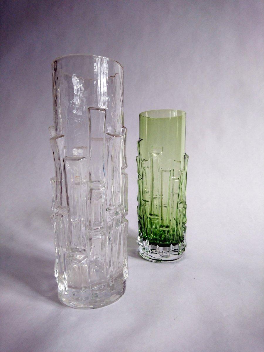 Mid century glass bark vases by bo borgstrm for seda 1960s set price per set reviewsmspy