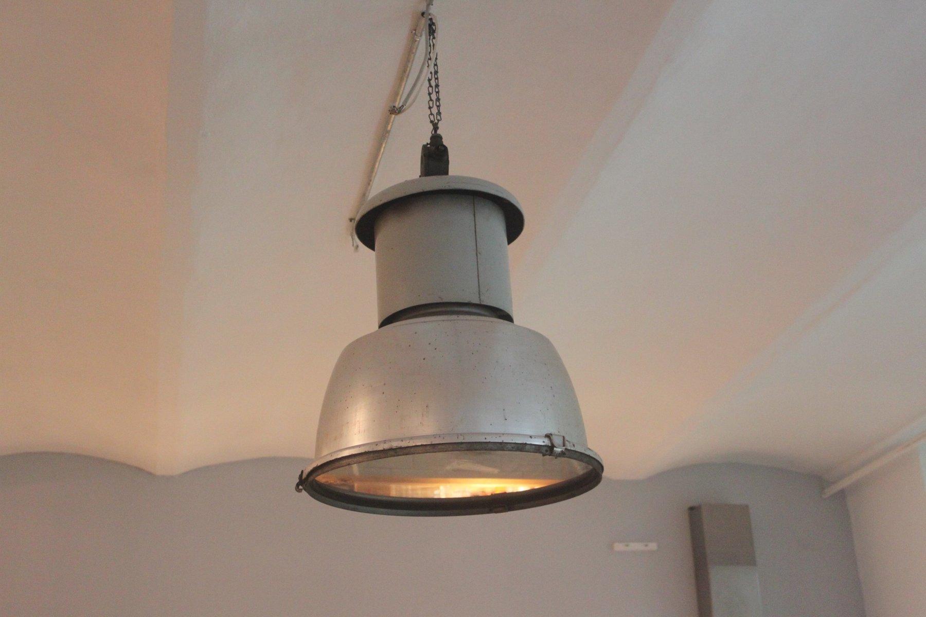 Gro e industrielle vintage lampe bei pamono kaufen - Lampe vintage industrielle ...