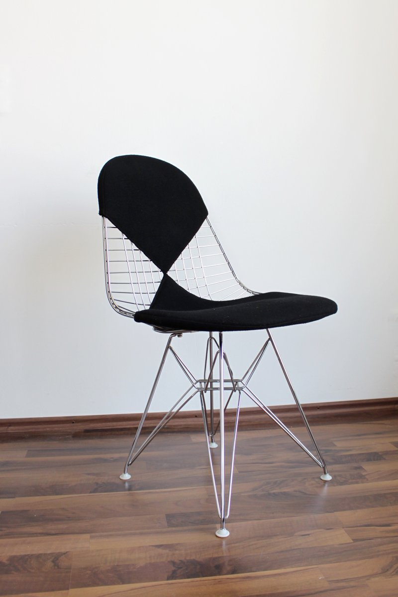 dkr 2 wire chair with bikini upholstery from vitra design ray and charles eames for sale at pamono. Black Bedroom Furniture Sets. Home Design Ideas