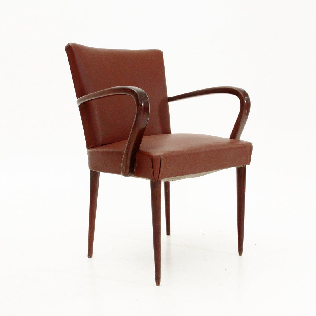 italienischer art deco armlehnstuhl 1930er bei pamono kaufen. Black Bedroom Furniture Sets. Home Design Ideas