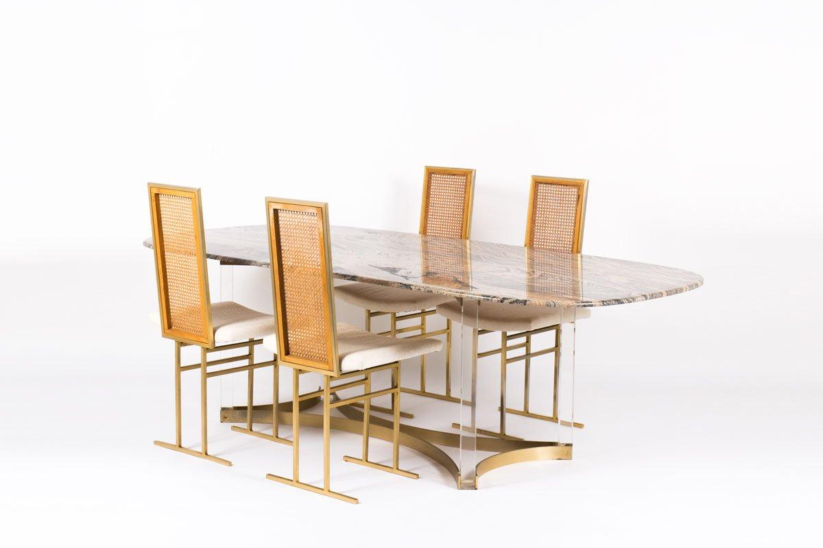 esstisch aus granit plexiglas 1970er bei pamono kaufen. Black Bedroom Furniture Sets. Home Design Ideas
