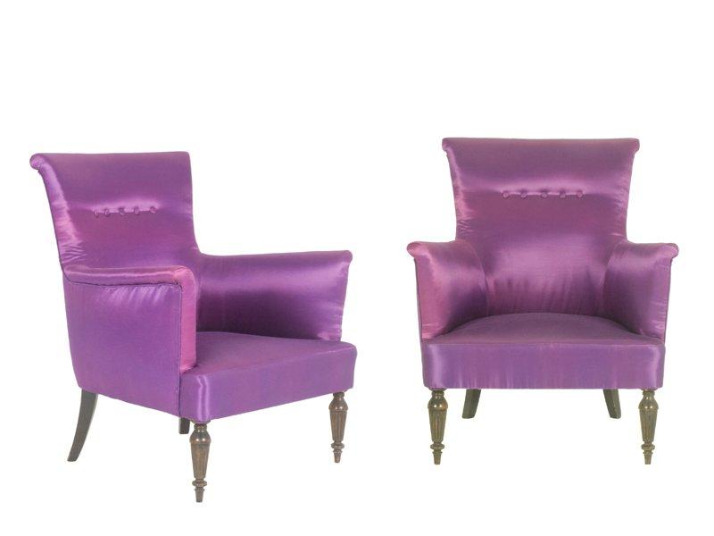 Italienische sessel in lila 1950er 2er set bei pamono kaufen for Sessel italienisches design