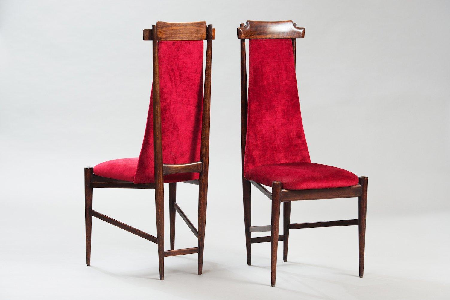 Sedie da pranzo con schienale alto set di 6 in vendita su for Sedie da pranzo design