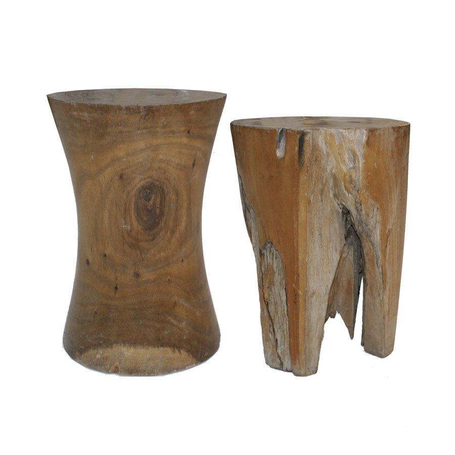 franz sische beistelltische aus fossilem holz 1940er 2er. Black Bedroom Furniture Sets. Home Design Ideas