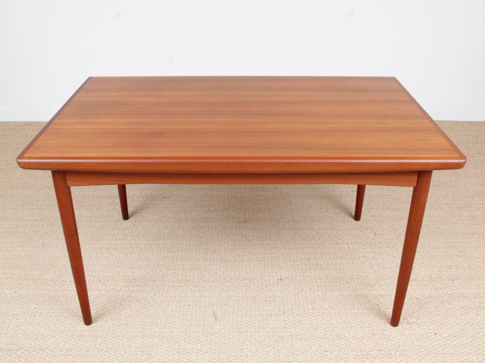skandinavischer teak esstisch von dyrlund 1950er bei. Black Bedroom Furniture Sets. Home Design Ideas
