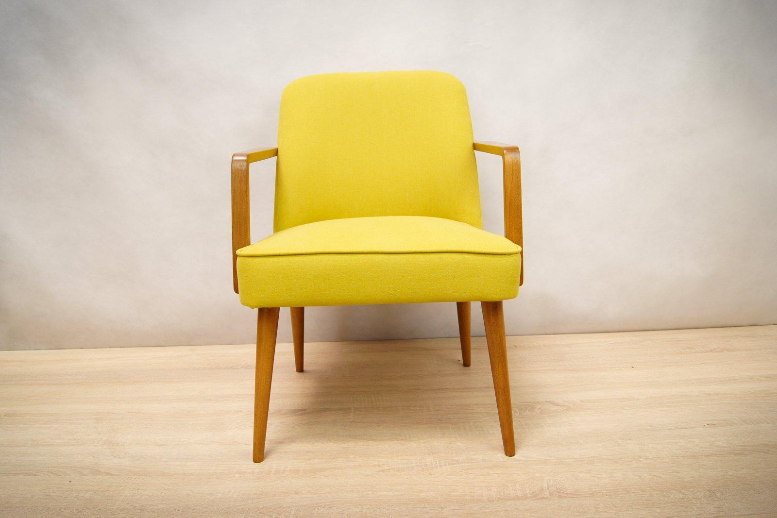 kleine gelbe deutsche sessel 1960er 2er set bei pamono kaufen. Black Bedroom Furniture Sets. Home Design Ideas