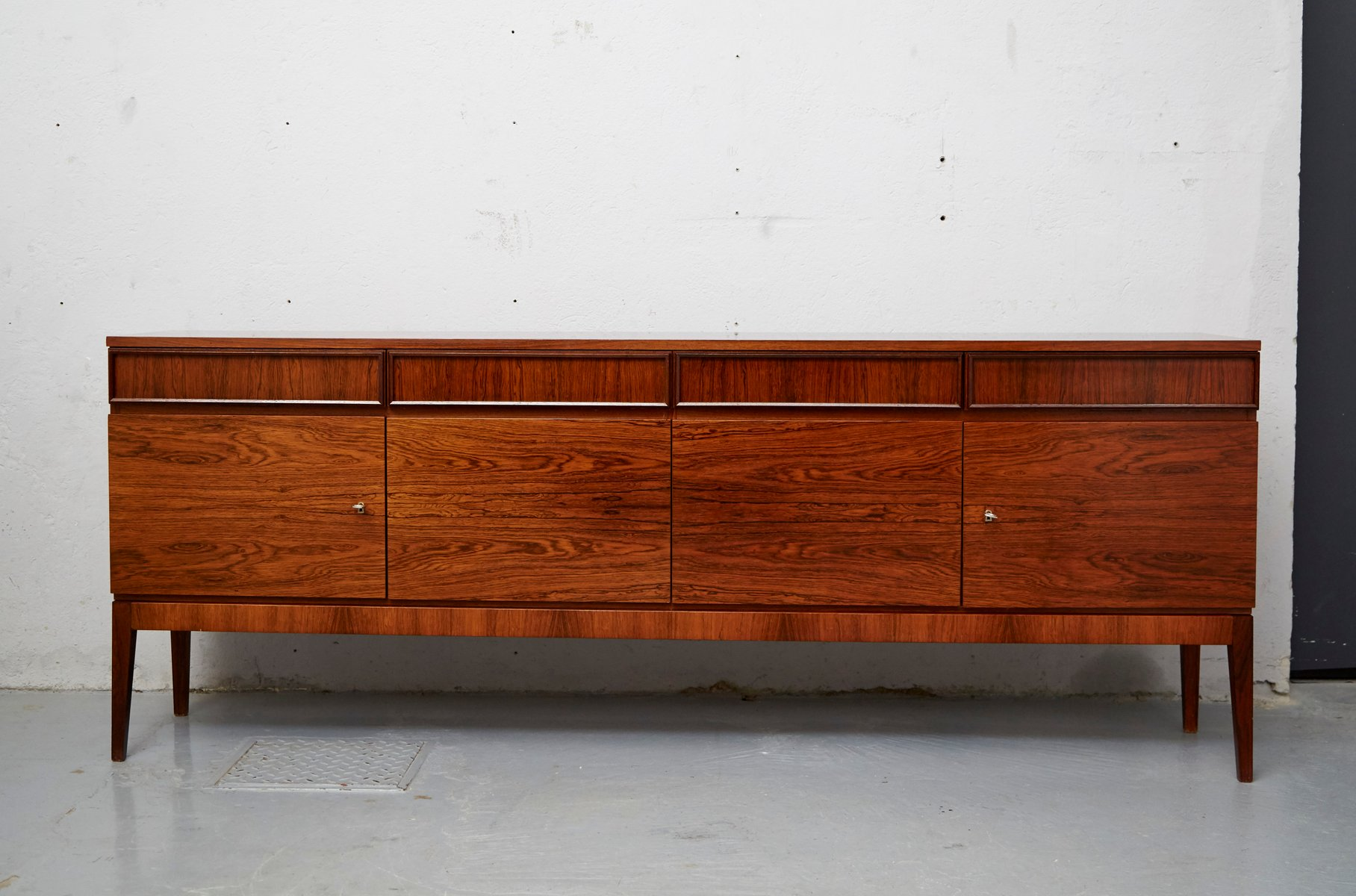 mid century rosewood veneer sideboard from musterring for. Black Bedroom Furniture Sets. Home Design Ideas