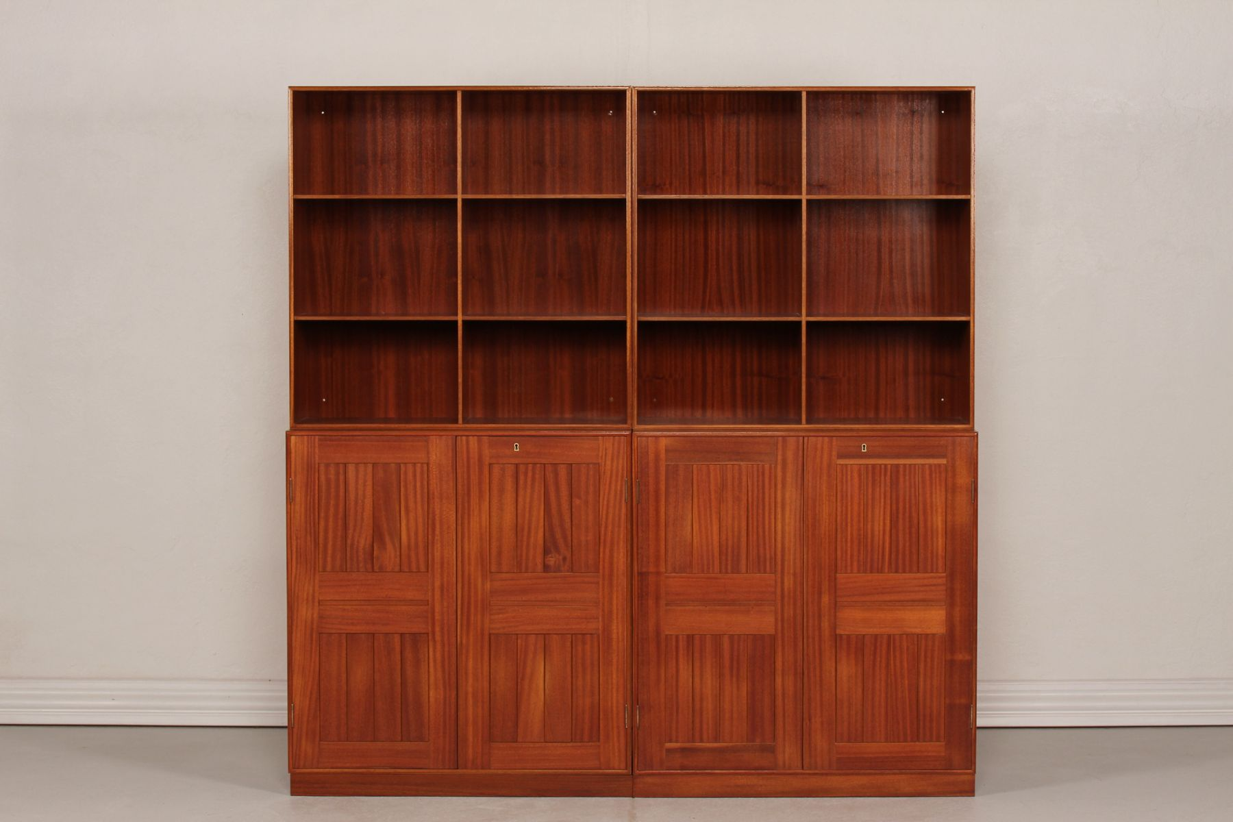 Nice Danish Four Section Mahogany Bookcase By Mogens Koch For Rud. Rasmussen,  1960s For Sale At Pamono