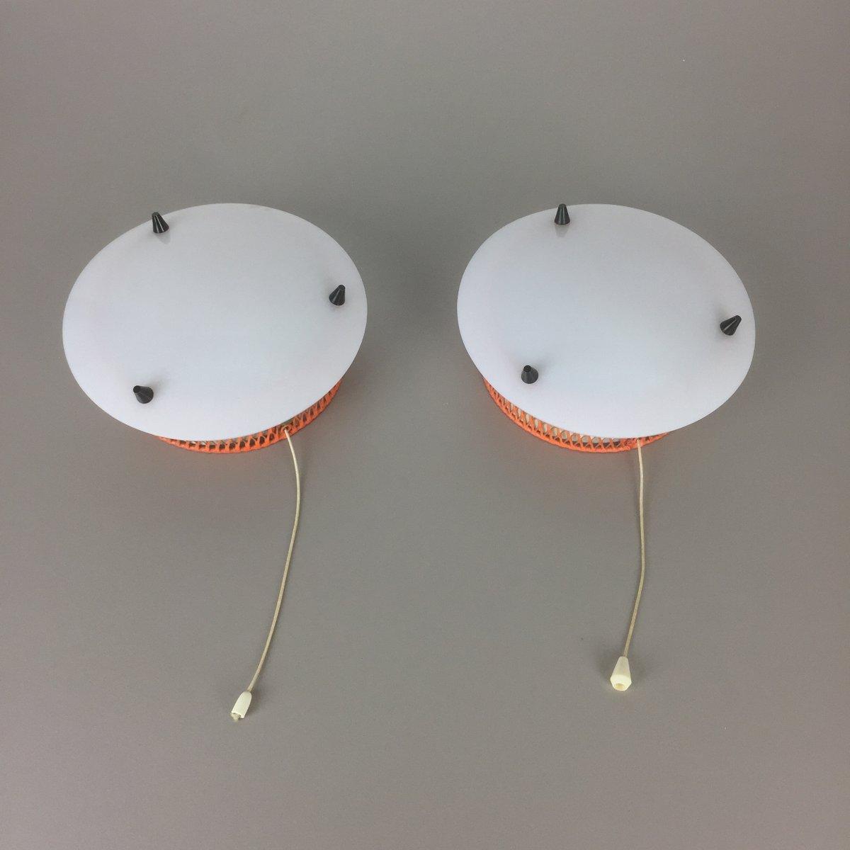 moderne italienische wandlampen 1950er 2er set bei. Black Bedroom Furniture Sets. Home Design Ideas