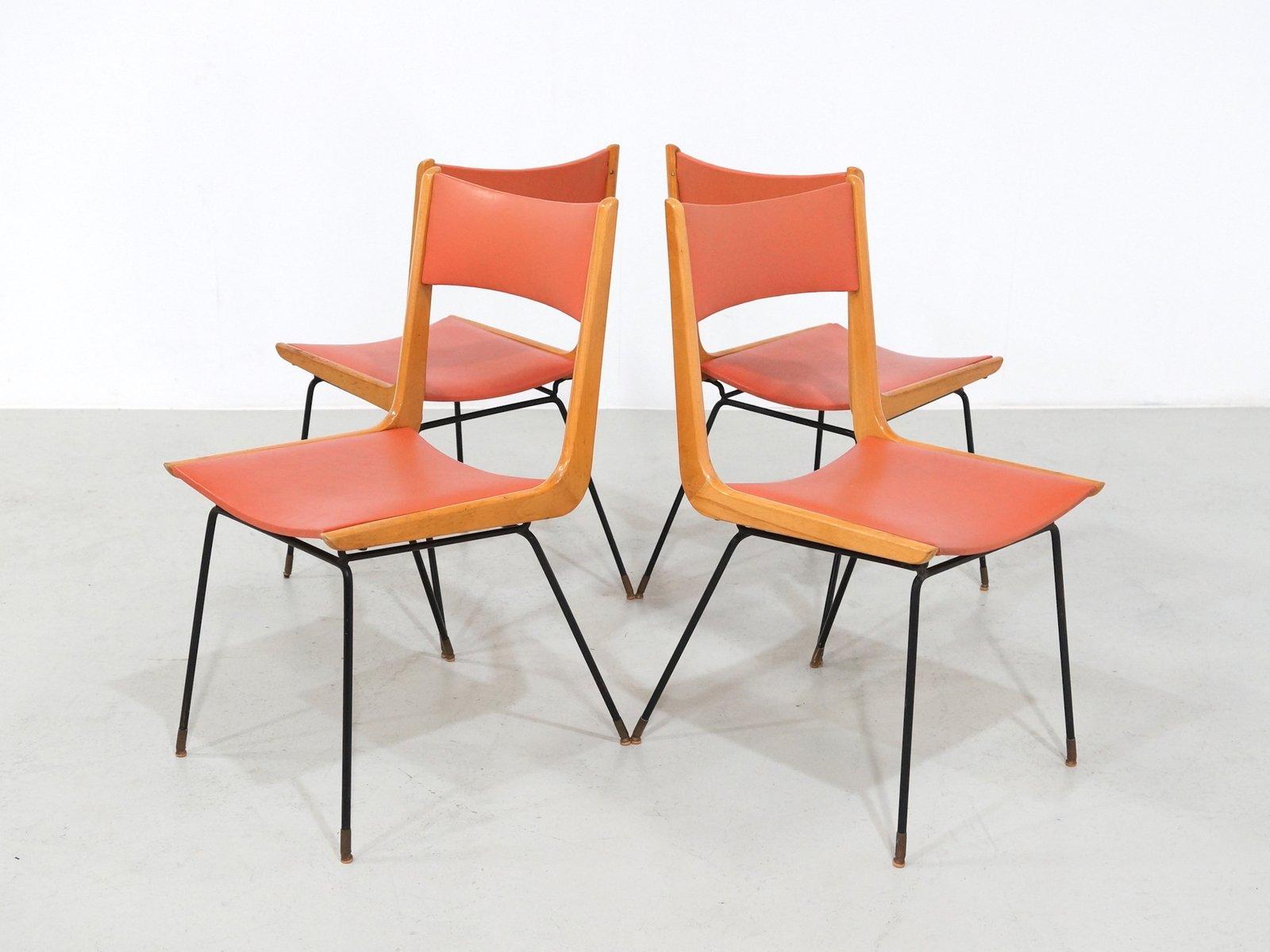italienische boomerang st hle von carlo ratti 1950er 4er set bei pamono kaufen. Black Bedroom Furniture Sets. Home Design Ideas
