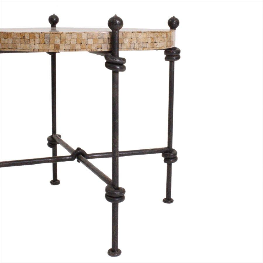 italienischer beistelltisch aus stahl 1940er bei pamono. Black Bedroom Furniture Sets. Home Design Ideas
