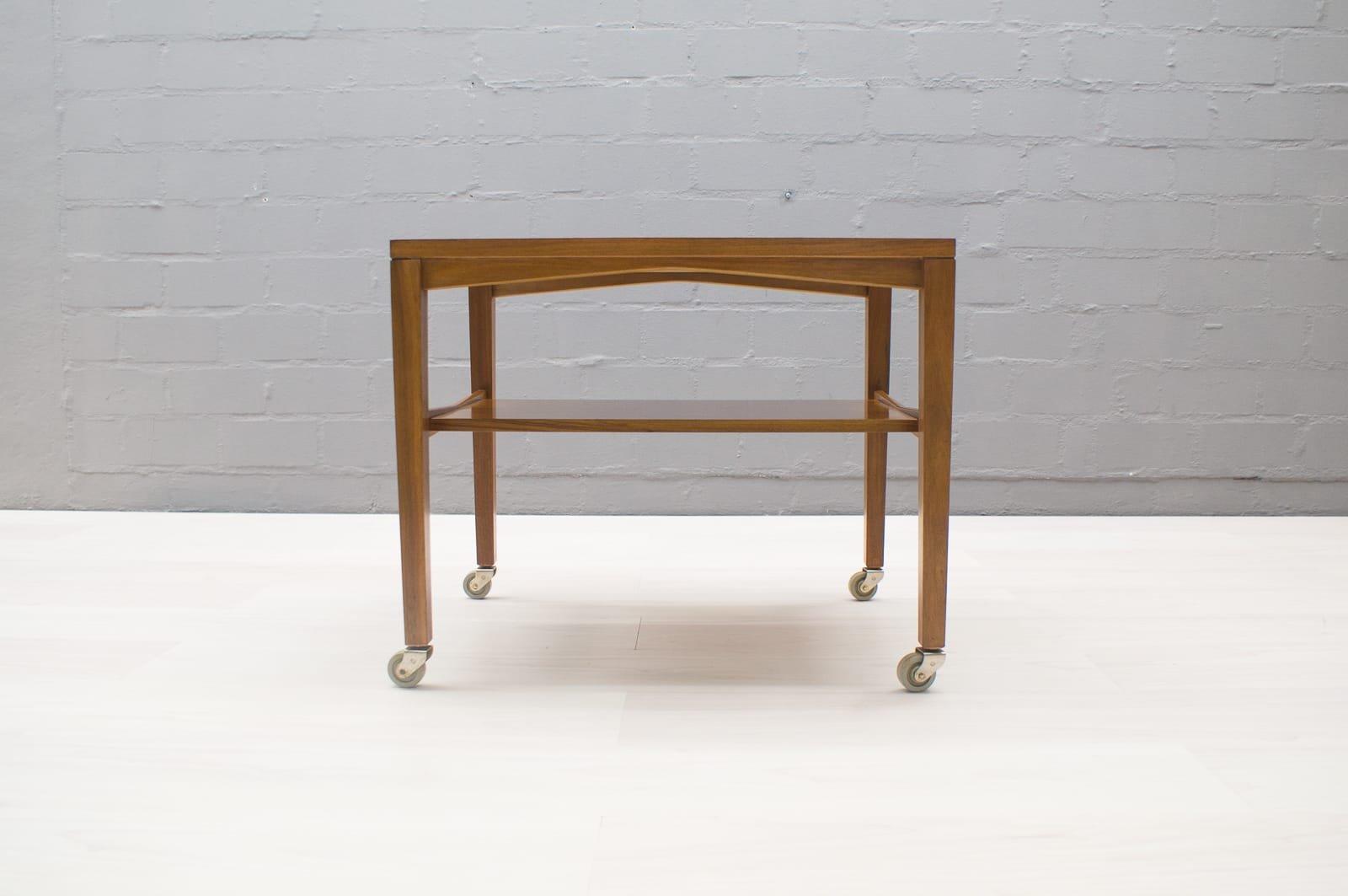 beistelltisch auf rollen von wilhelm renz 1960er bei pamono kaufen. Black Bedroom Furniture Sets. Home Design Ideas