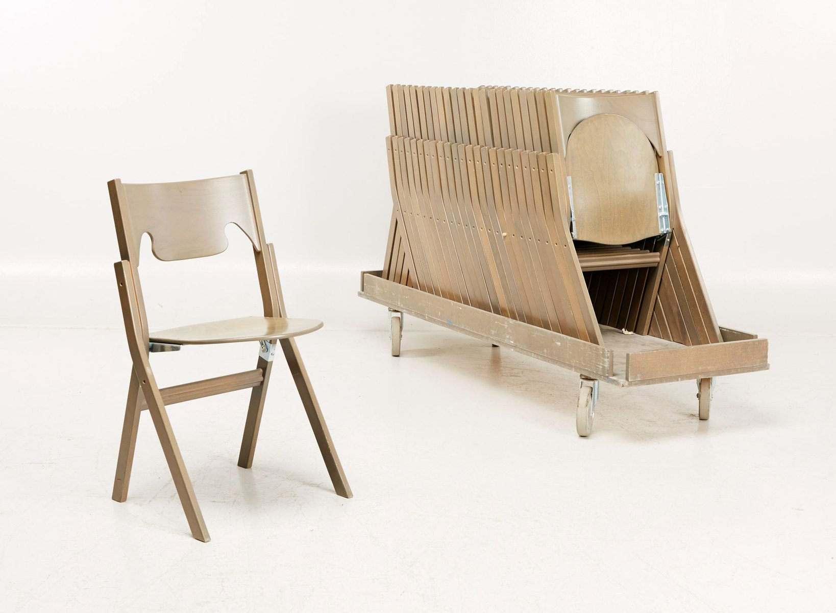 Scandinavian Modern Folding Chairs By Ake Axelsson, Set Of 24 For Sale At  Pamono