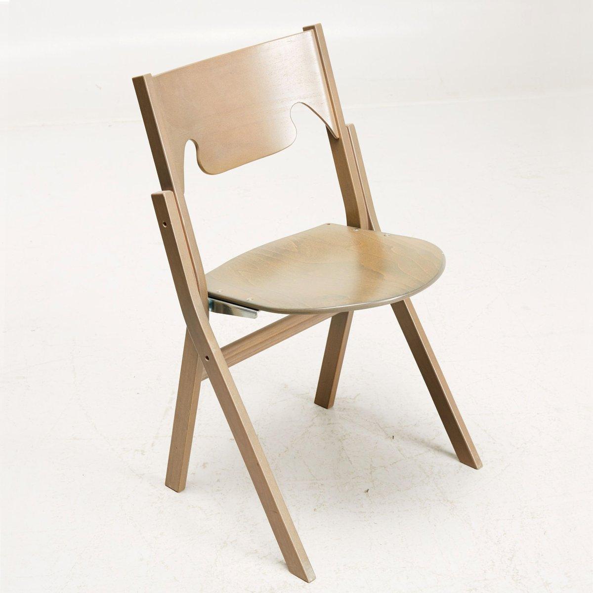 Scandinavian Modern Folding Chairs By Ake Axelsson, Set Of 24