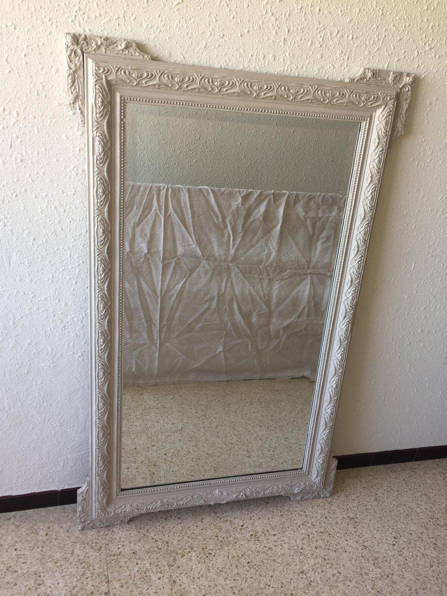 gro er vintage spiegel mit modelliertem rahmen bei pamono kaufen. Black Bedroom Furniture Sets. Home Design Ideas