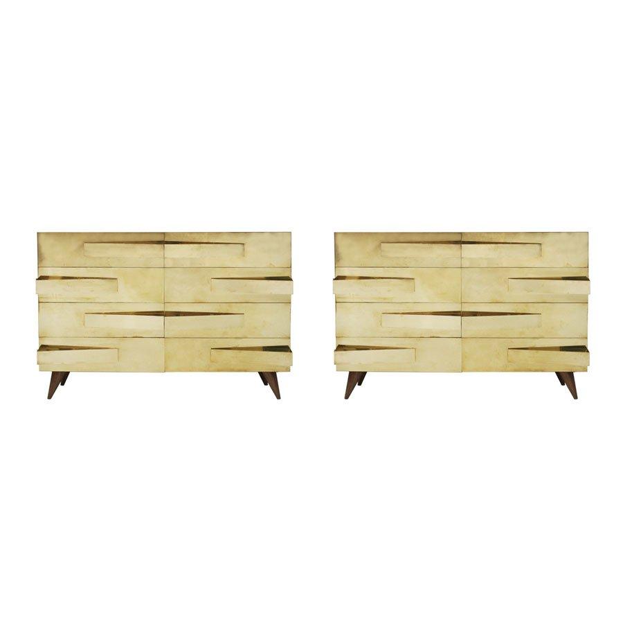 italienische vintage schr nke aus eiche 2er set bei. Black Bedroom Furniture Sets. Home Design Ideas