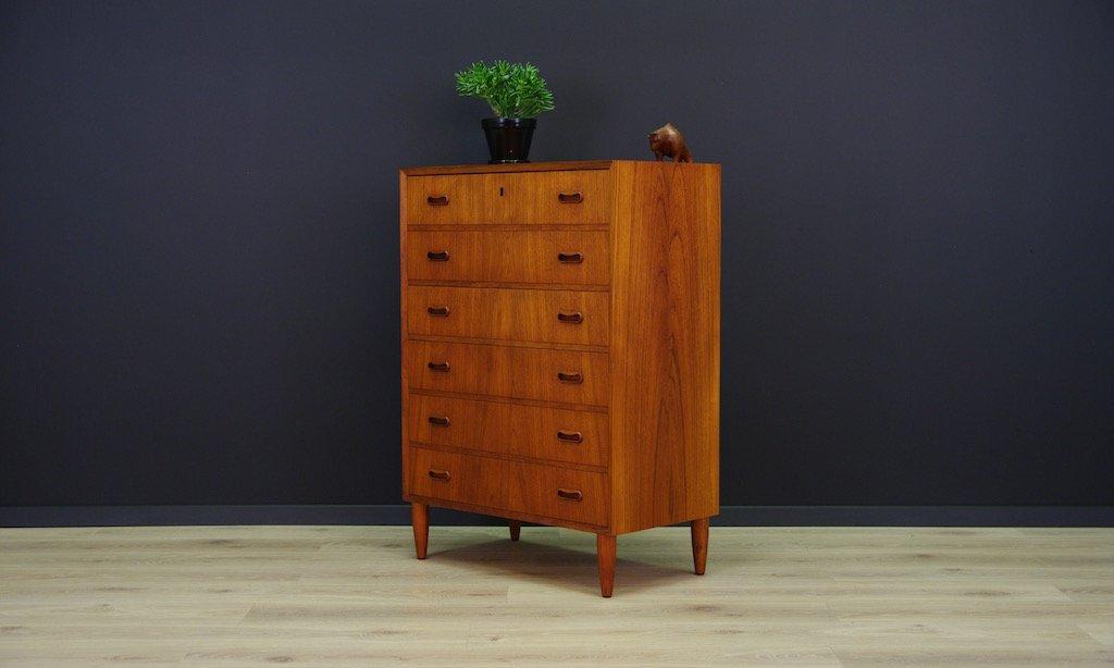 d nische vintage kommode aus teak furnier bei pamono kaufen. Black Bedroom Furniture Sets. Home Design Ideas