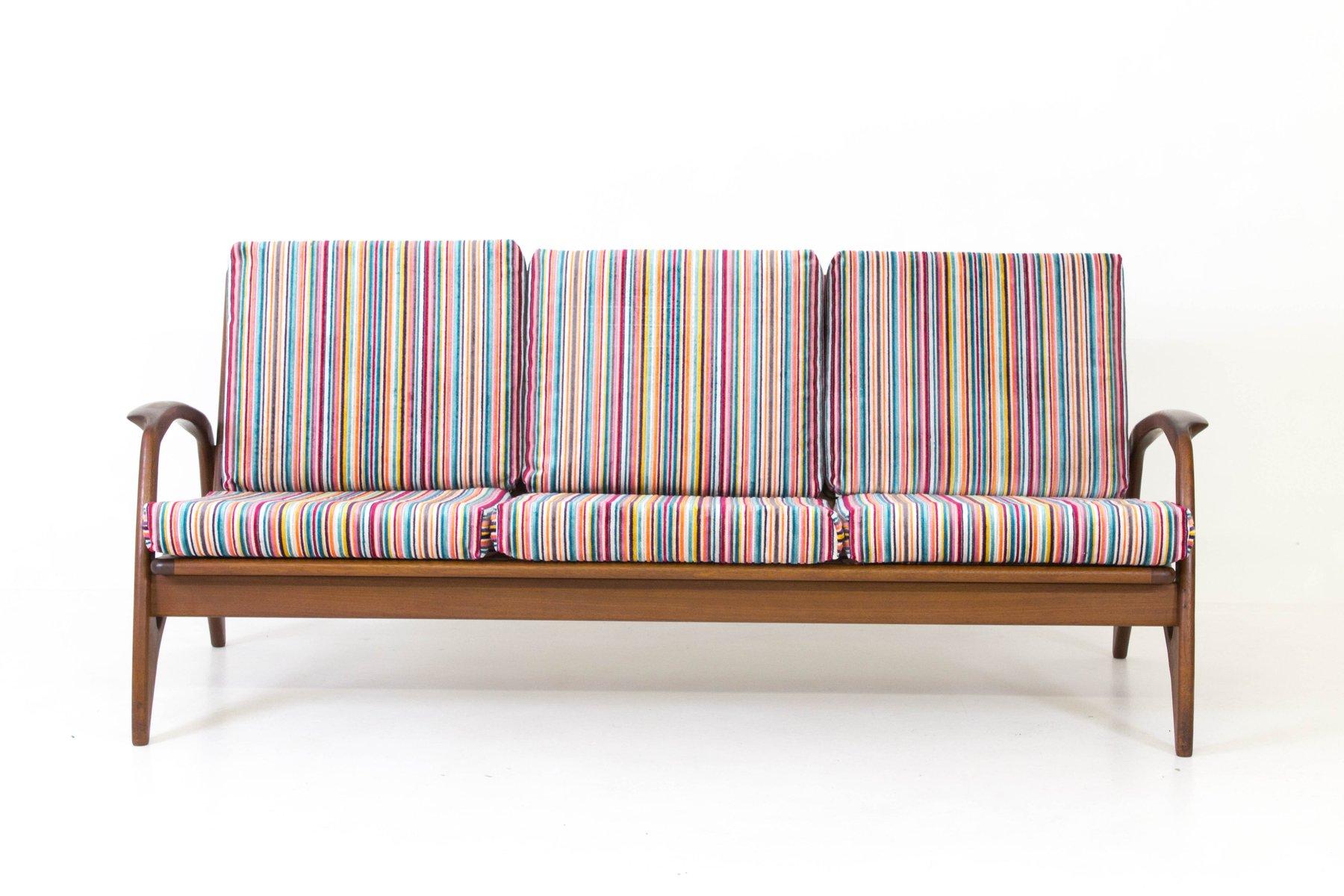 Organic Teak Sofa From De Ster Gelderland, 1960s