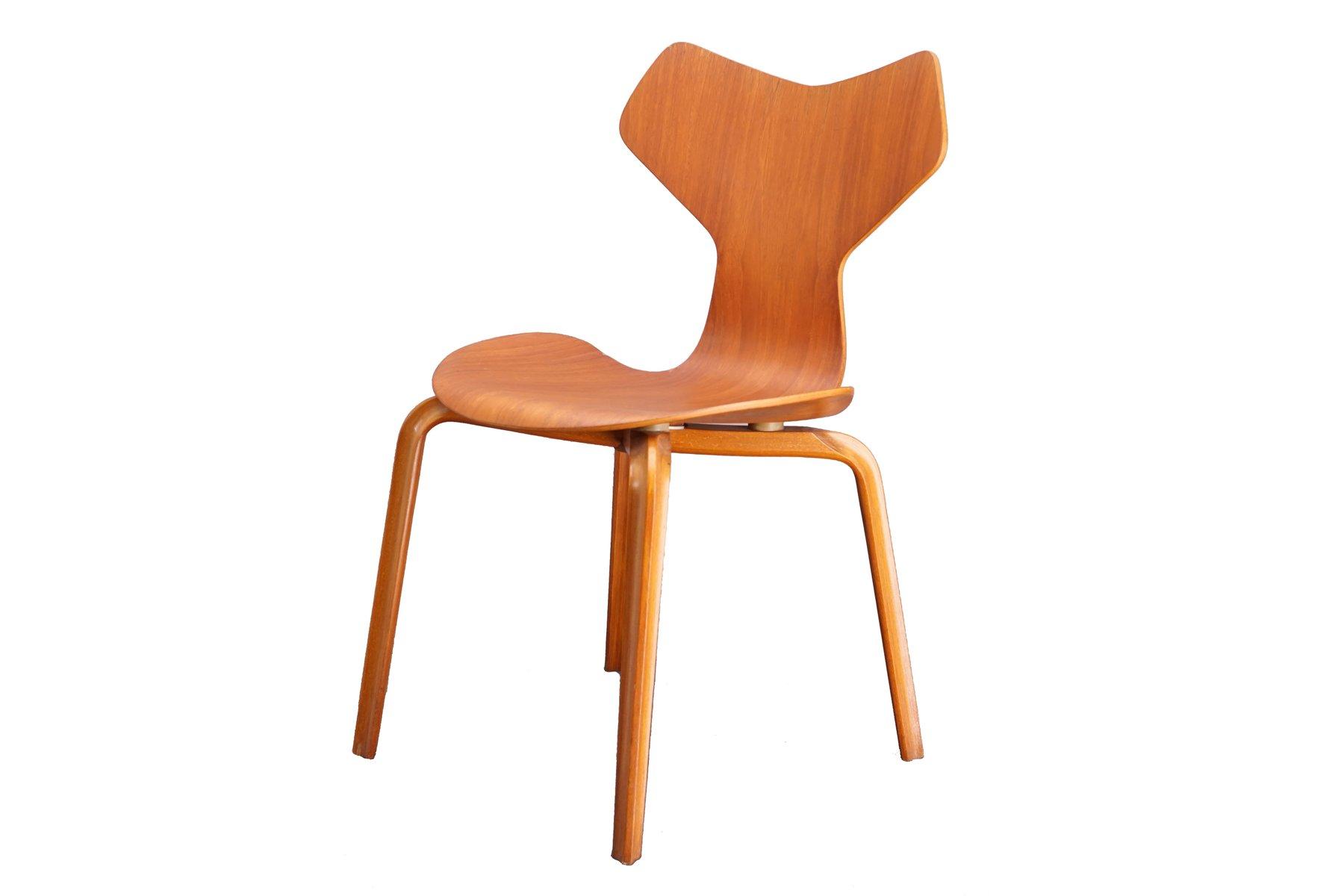Teak Grand Prix Stuhl von Arne Jacobsen für Fritz Hansen, 1960er bei ...