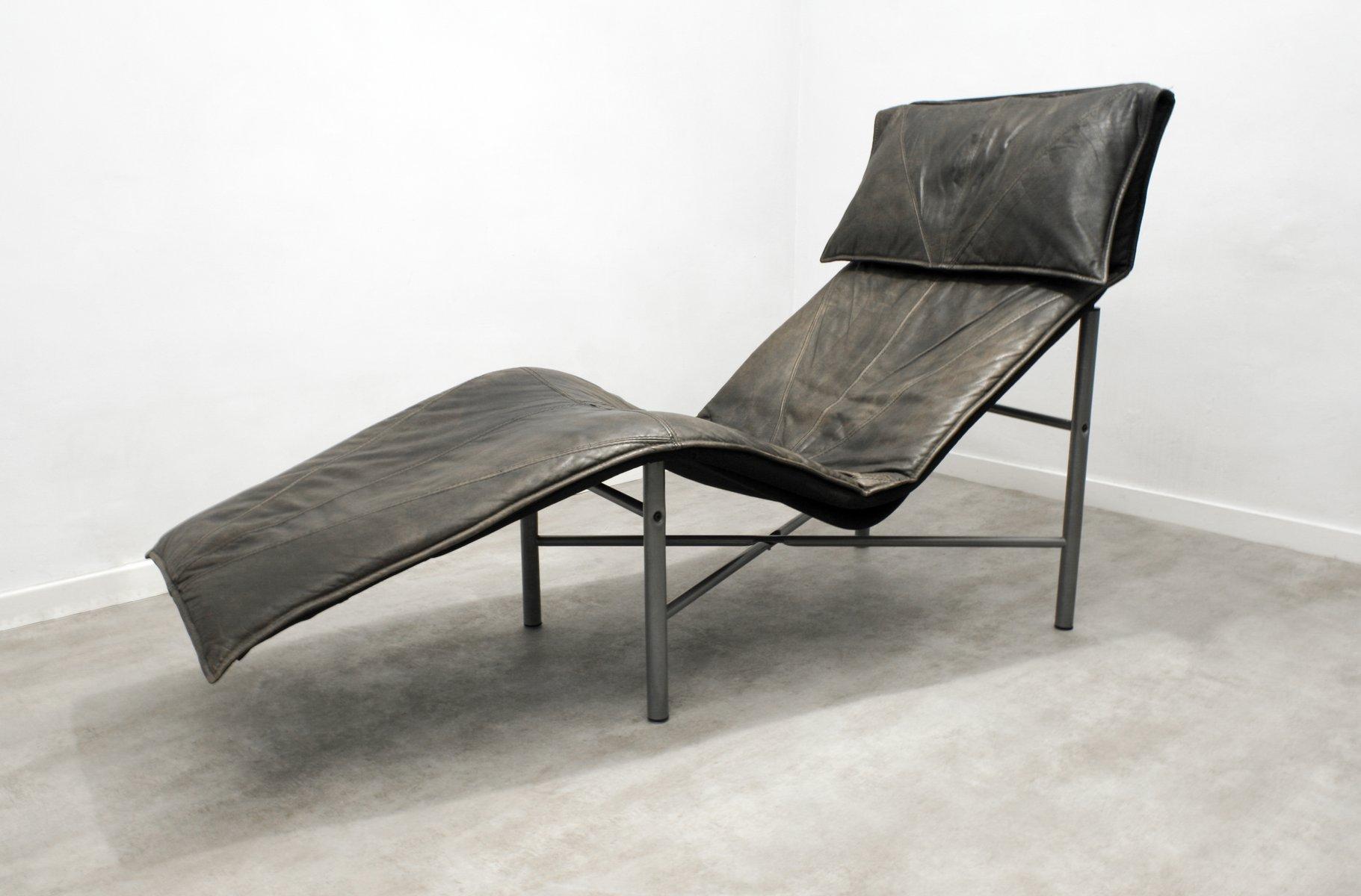 skye chaiselongue aus braunem leder von tord bj rklund f r. Black Bedroom Furniture Sets. Home Design Ideas