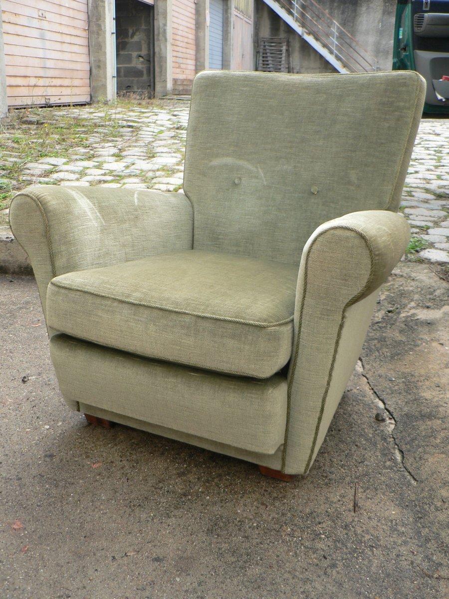 gr ne sessel aus samt 1970er 2er set bei pamono kaufen. Black Bedroom Furniture Sets. Home Design Ideas