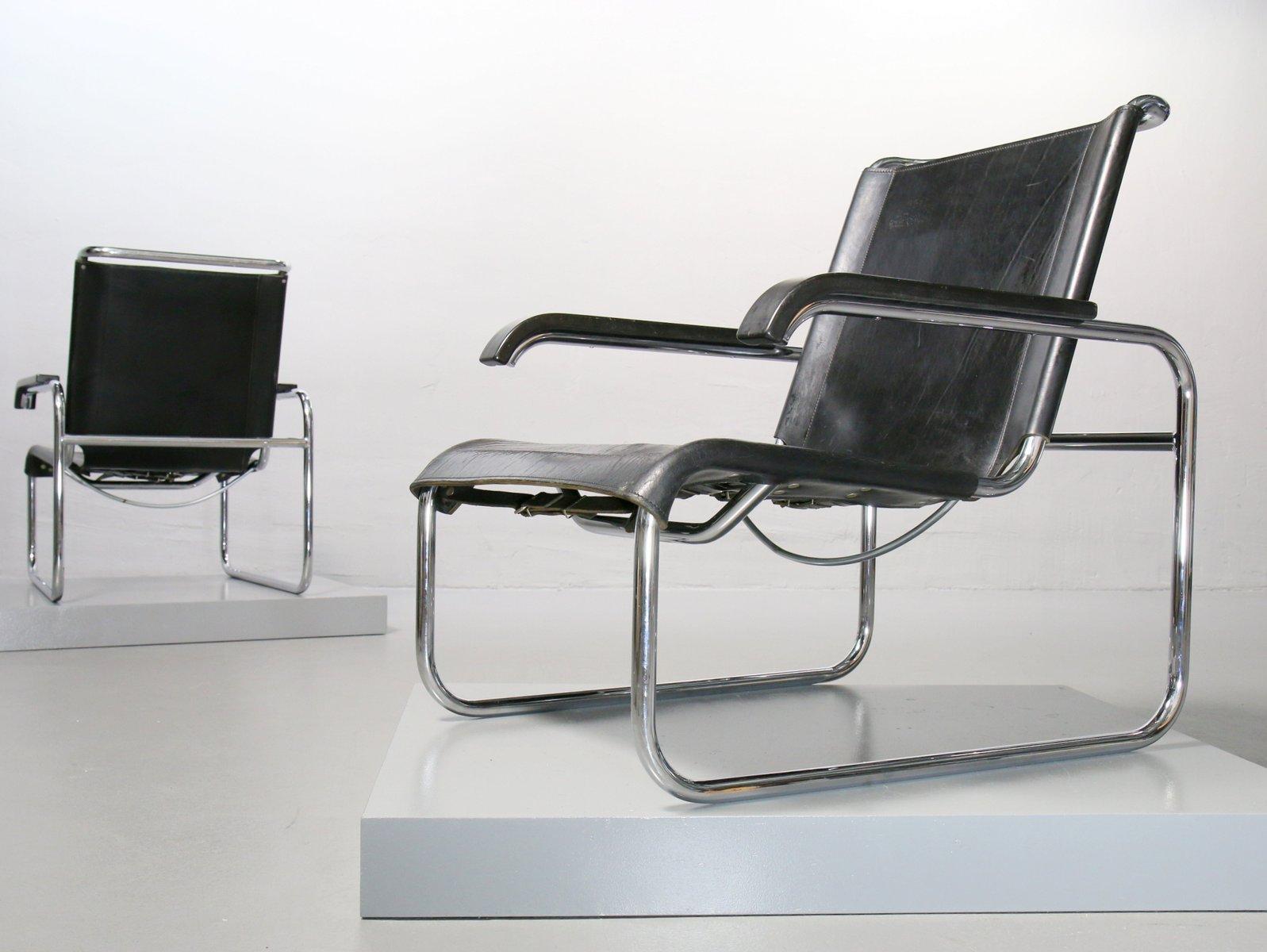 s 35 sessel aus stahlrohr von marcel breuer f r thonet 1970er bei pamono kaufen. Black Bedroom Furniture Sets. Home Design Ideas