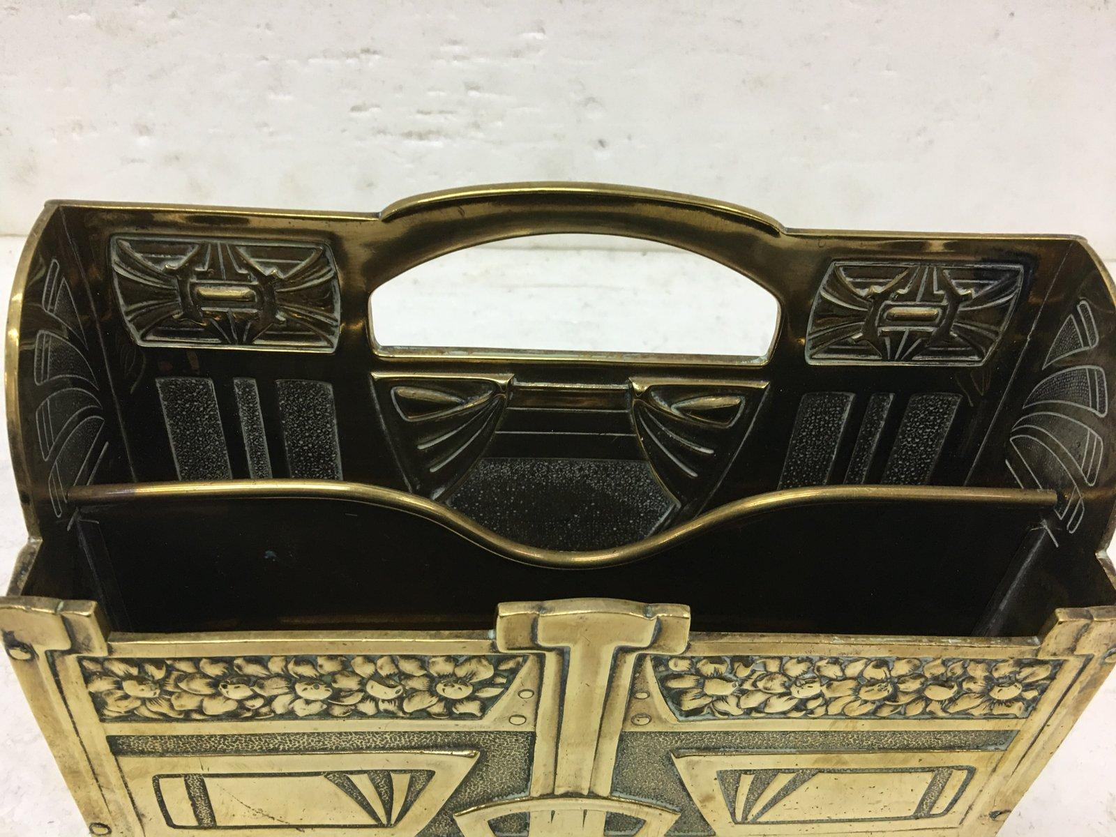 Boîte aux Lettres de Bureau Art Nouveau en Laiton, 1900s en vente ...