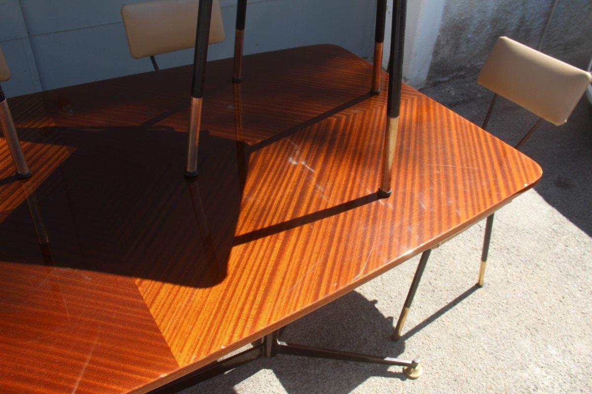 italienischer esstisch mit st hlen 1950er bei pamono kaufen. Black Bedroom Furniture Sets. Home Design Ideas