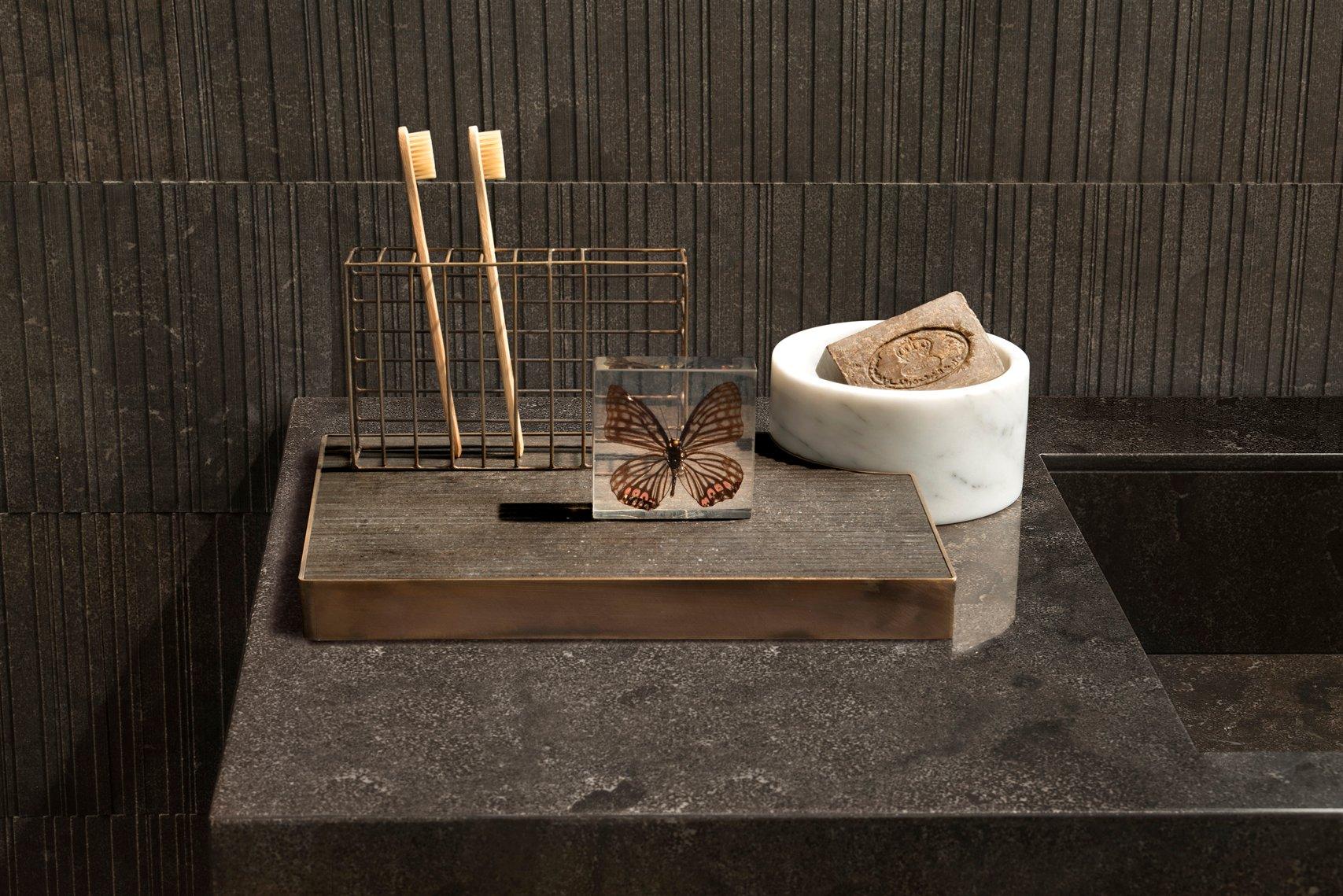 PLAT-EAU Bath 02+03+04 Badezimmer Accessoire Set aus Messing ...