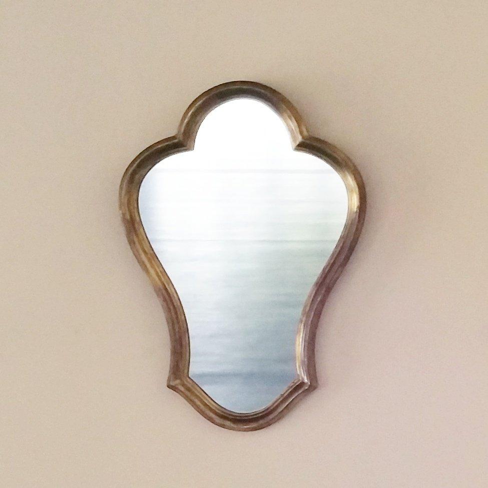 Miroir avec cadre en bois dor france 1960s en vente sur for Miroir avec cadre en bois