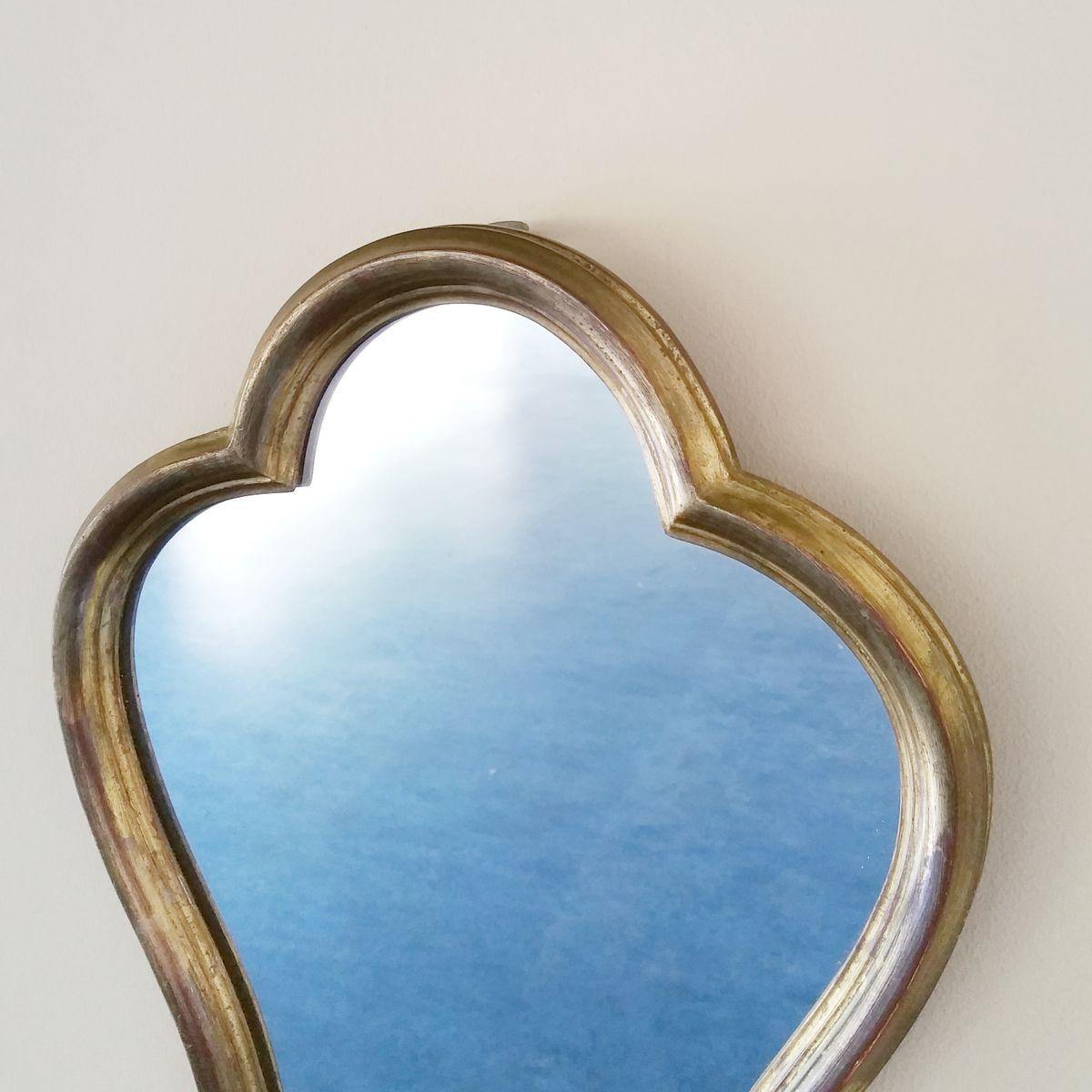 franz sischer spiegel mit vergoldetem holzrahmen 1960er bei pamono kaufen. Black Bedroom Furniture Sets. Home Design Ideas