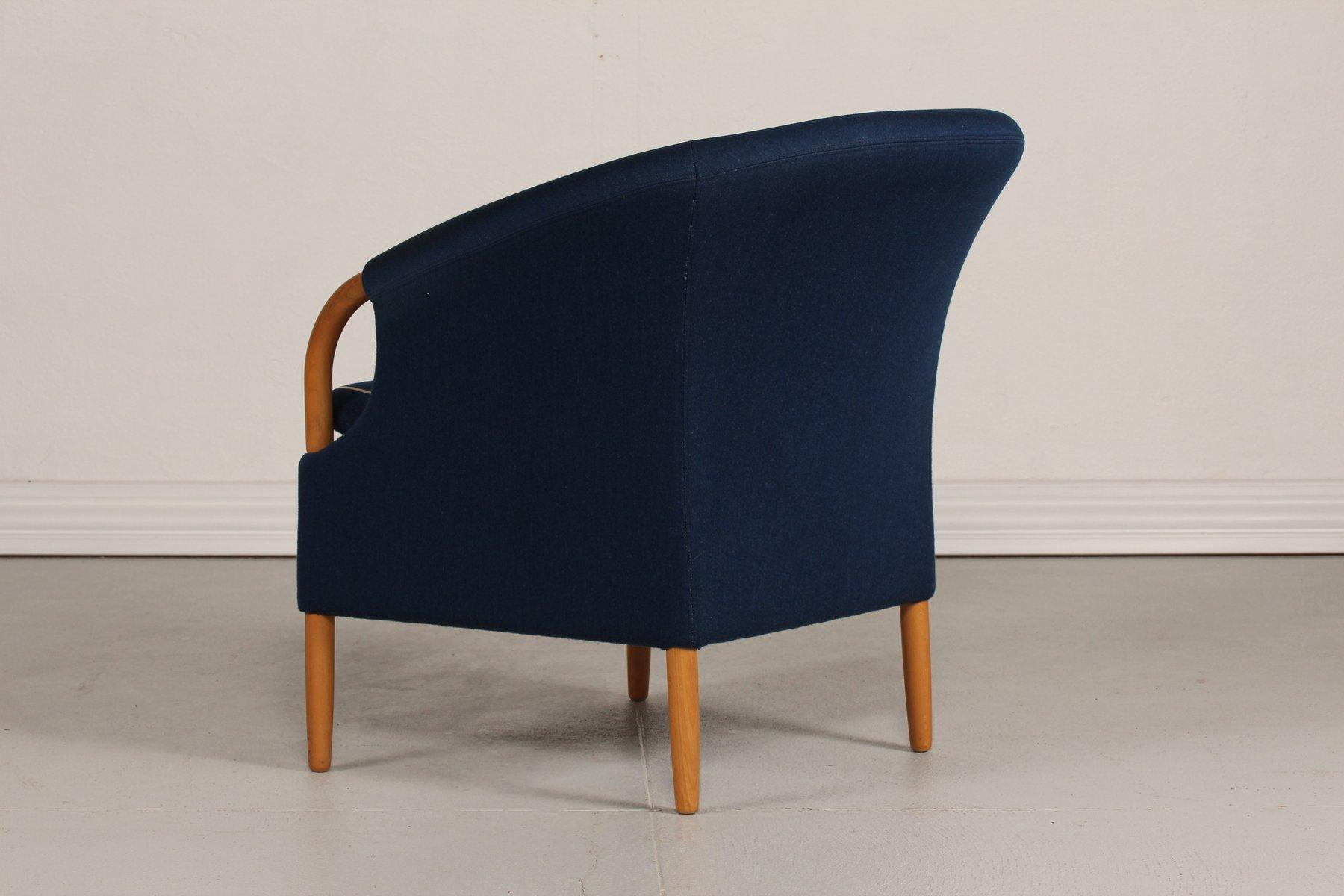 d nischer opus sessel mit blauem wollbezug von jeki m bler 1980er bei pamono kaufen. Black Bedroom Furniture Sets. Home Design Ideas