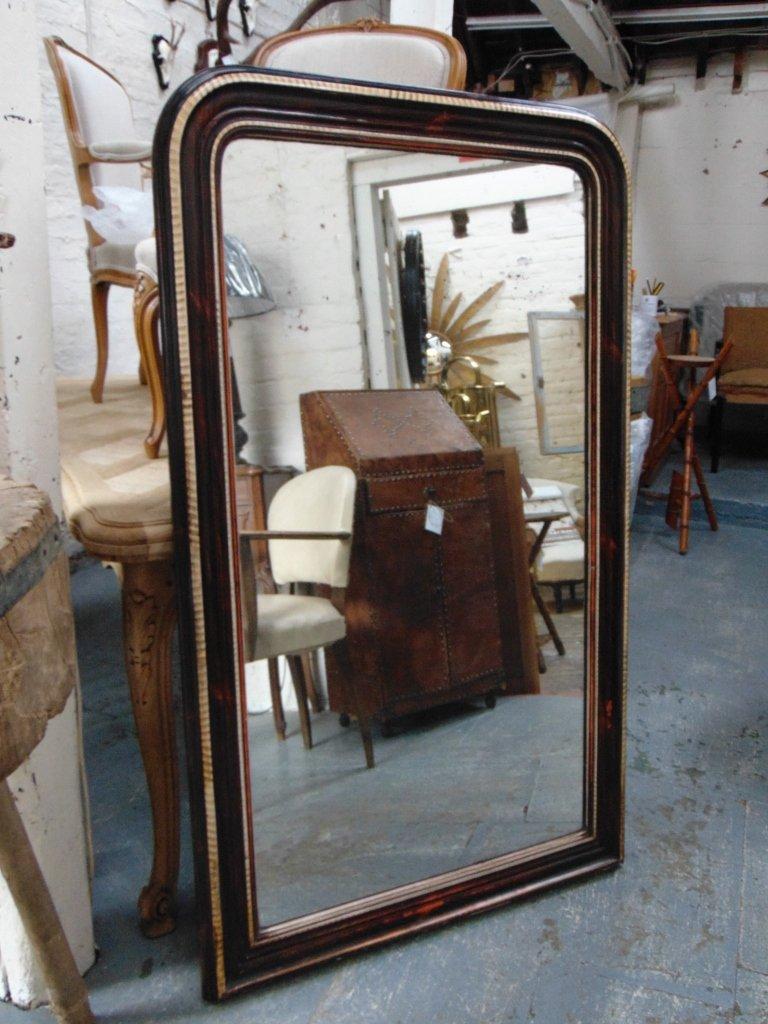antiker mercury glas wandspiegel bei pamono kaufen. Black Bedroom Furniture Sets. Home Design Ideas