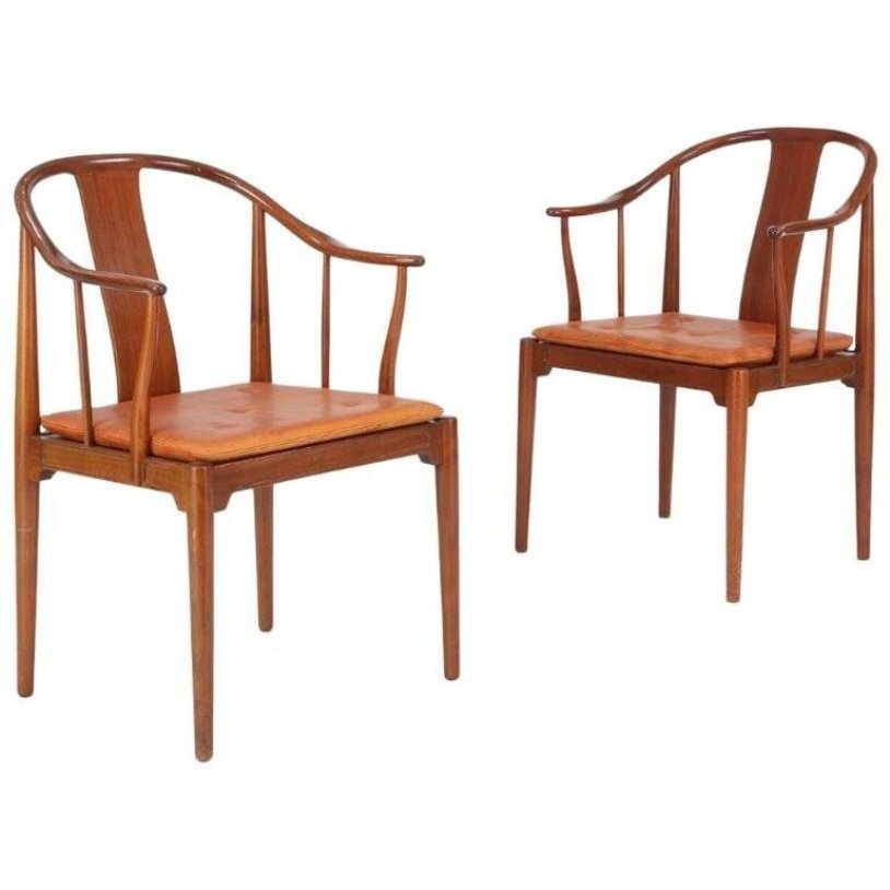 China Chairs By Hans J. Wegner For Fritz Hansen, 1966, Set Of 2