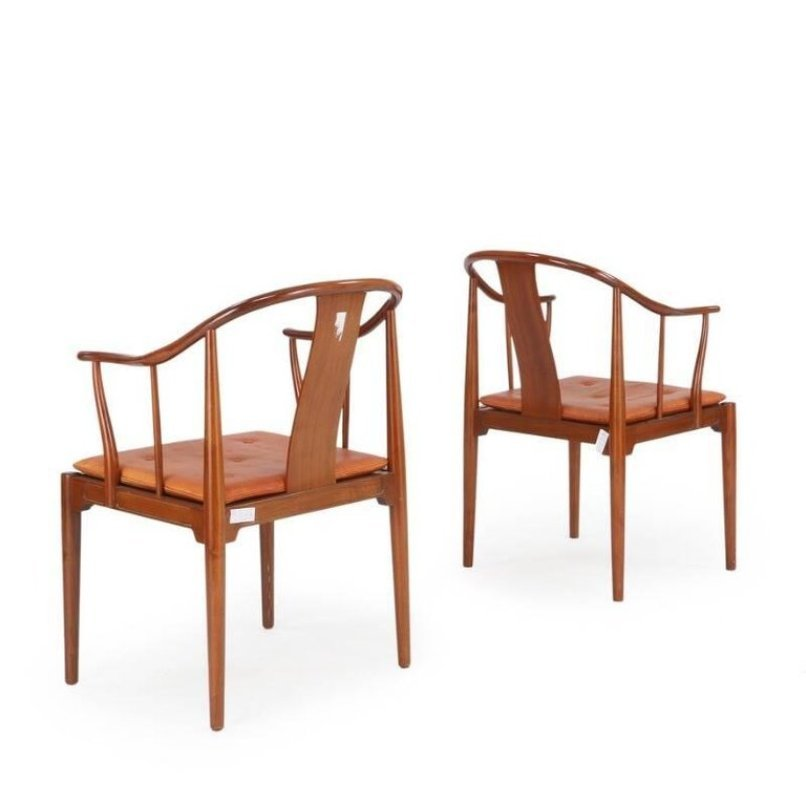 china st hle von hans j wegner f r fritz hansen 1966 2er set bei pamono kaufen. Black Bedroom Furniture Sets. Home Design Ideas