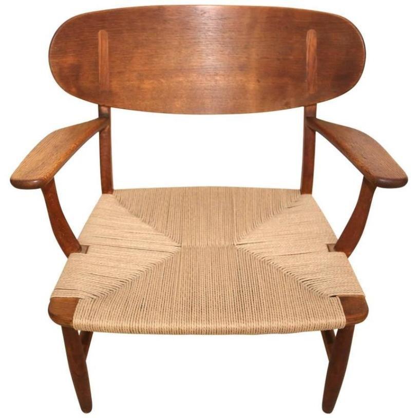 ch22 shell stuhl von hans wegner f r carl hansen s n 1951 bei pamono kaufen. Black Bedroom Furniture Sets. Home Design Ideas