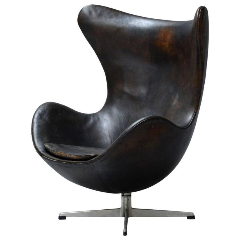 egg chair by arne jacobsen for fritz hansen 1960s for. Black Bedroom Furniture Sets. Home Design Ideas