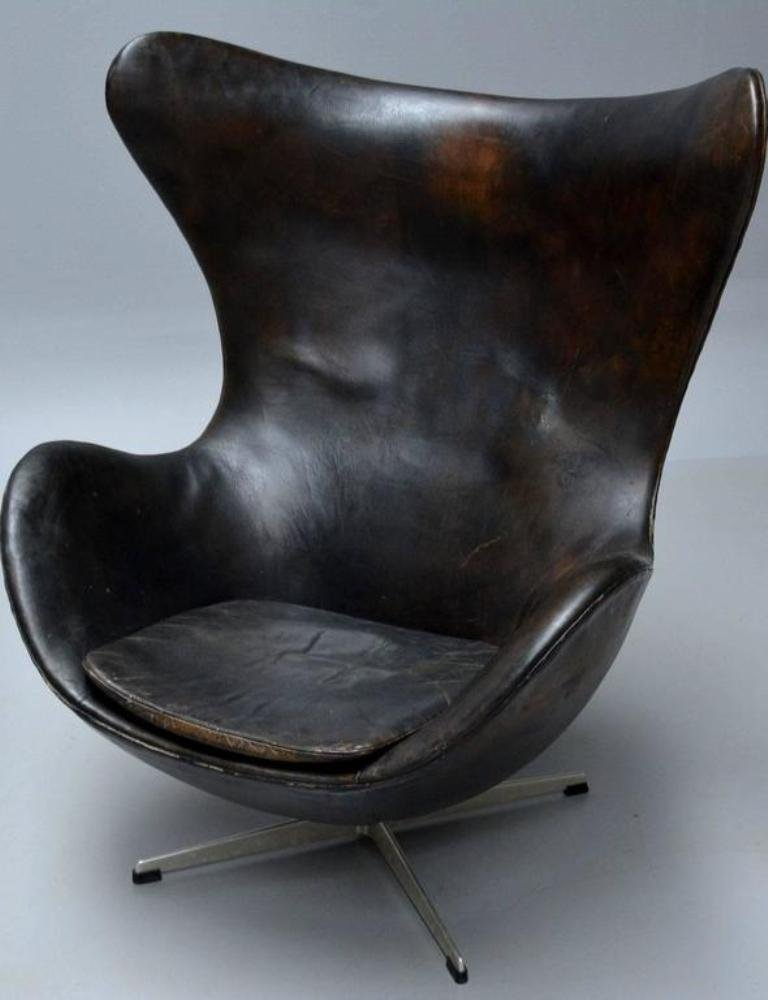 egg chair by arne jacobsen for fritz hansen 1960s for sale at pamono. Black Bedroom Furniture Sets. Home Design Ideas