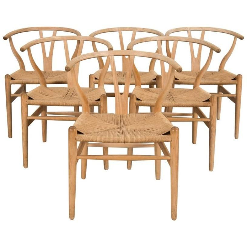 CH 24 Oak Wishbone Chairs By Hans Wegner For Carl Hansen U0026 Søn, 1970s, Set  Of 4