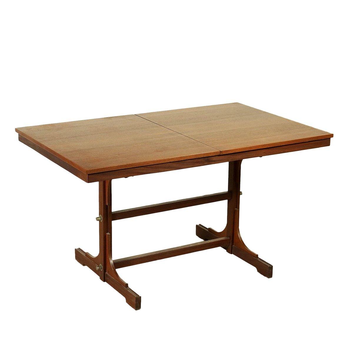 italian wood furniture. Italian Teak Veneer \u0026 Solid Wood Extendable Dining Table, 1960s Furniture