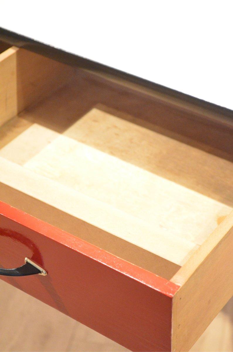 dreifarbiger mid century schreibtisch aus formica. Black Bedroom Furniture Sets. Home Design Ideas