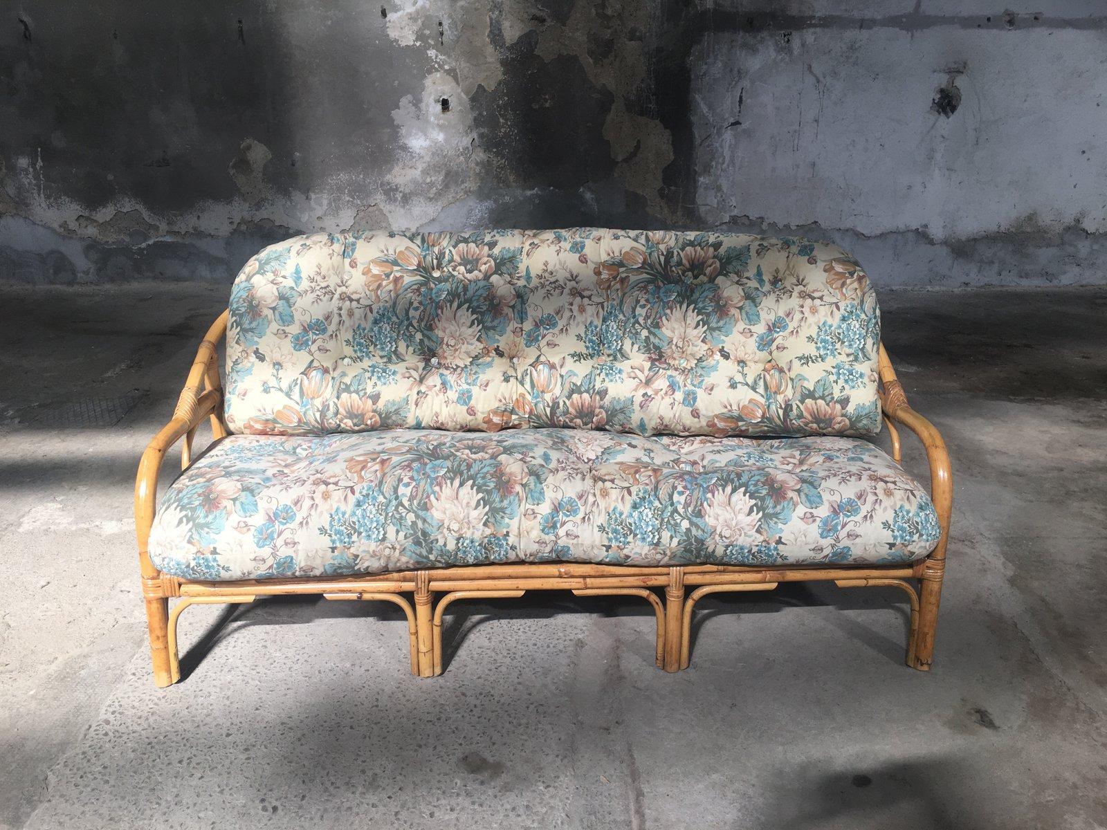 italienische bambus sofas 1950er 2er set bei pamono kaufen. Black Bedroom Furniture Sets. Home Design Ideas