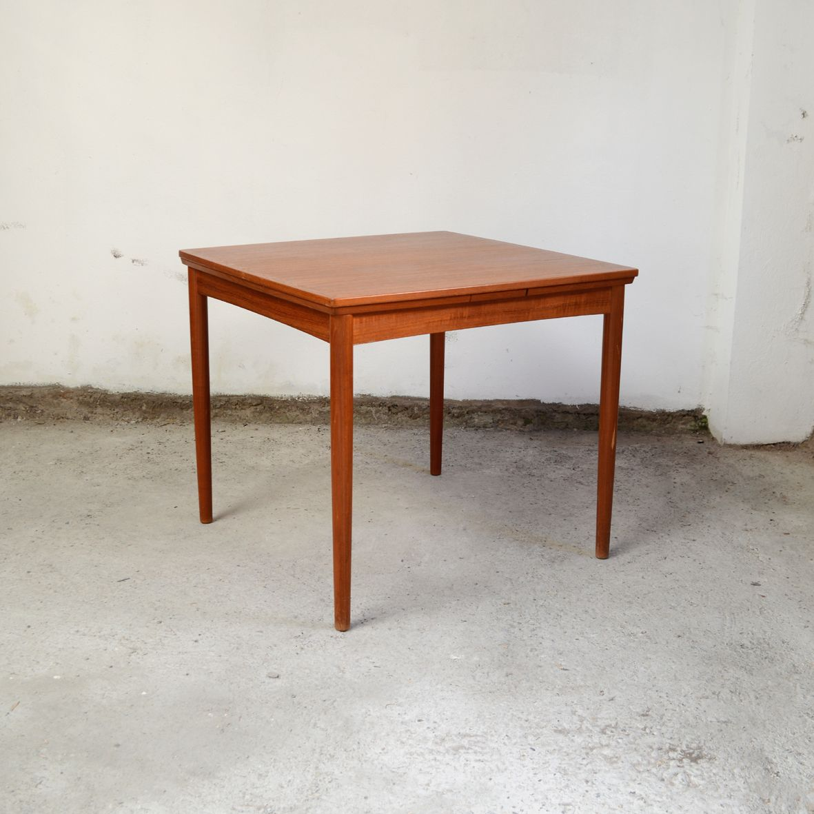 Mid Century Teak Square Dining Room Table By Poul Hundevad For Co